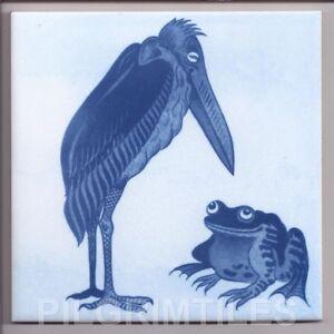 Metric Porcelain Tiles William De Morgan Frog Blue Wall Floor Kitchen Bathroom
