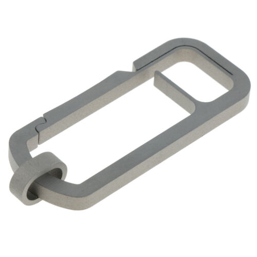 Titanium Alloy Chain Key Ring Buckle Hook Carabiner for Pendent Items Single