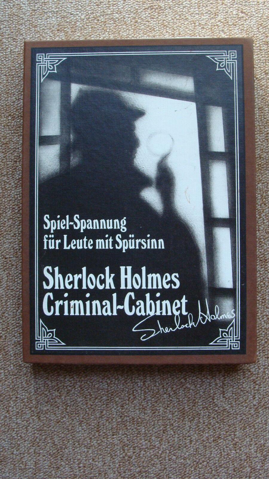 Sherlock Holmes Criminal-Cabinet Vollständig Spiel des Jahres 1985