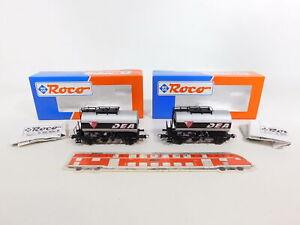 CI878-0-5-2x-Roco-H0-AC-46071-Kesselwagen-735-5-559-1-DEA-NEM-NEUW-OVP