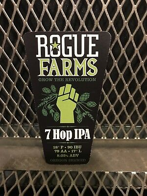 ROGUE BREWERY Oregon ~ RARE ~ BRUTAL IPA Tap ~ Craft Beer Sign Sticker