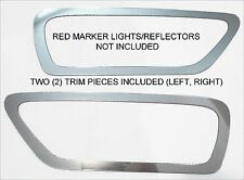 REAR BUMPER MARKER LIGHT CHROME BEZELS FIT 2012 -  2016 12 16 DODGE JOURNEY