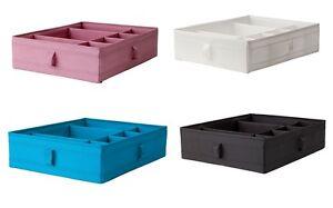 ikea skubb kasten mit f chern box boxen schubladen organizer 4 farben ebay. Black Bedroom Furniture Sets. Home Design Ideas