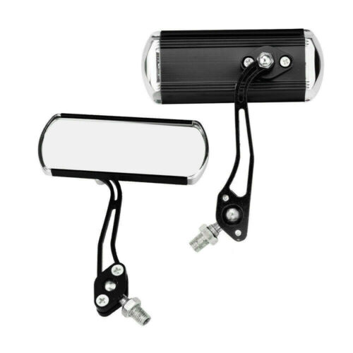 2Pcs Bicycle Bike Cycling Handlebar Rear View Rearview Mirror Rectangle Back r