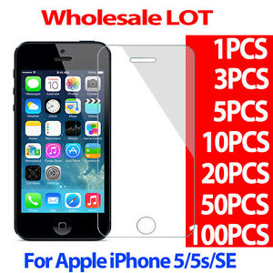 9H Tempered Glass Screen Protector Film for Apple iphone 5 5S 5C SE 0.3mm LOT