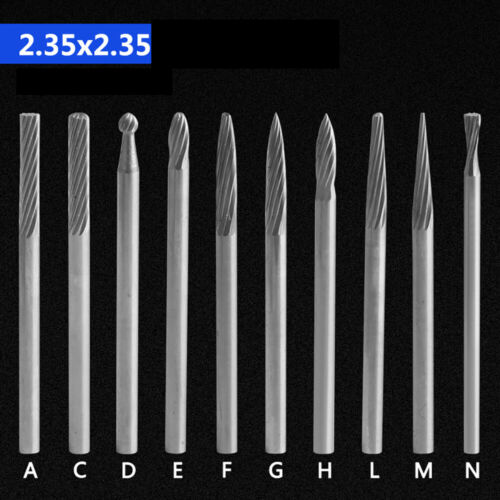 3mm Tungsten Steel Solid Carbide Rotary Files Milling cutter SET Carving Metal