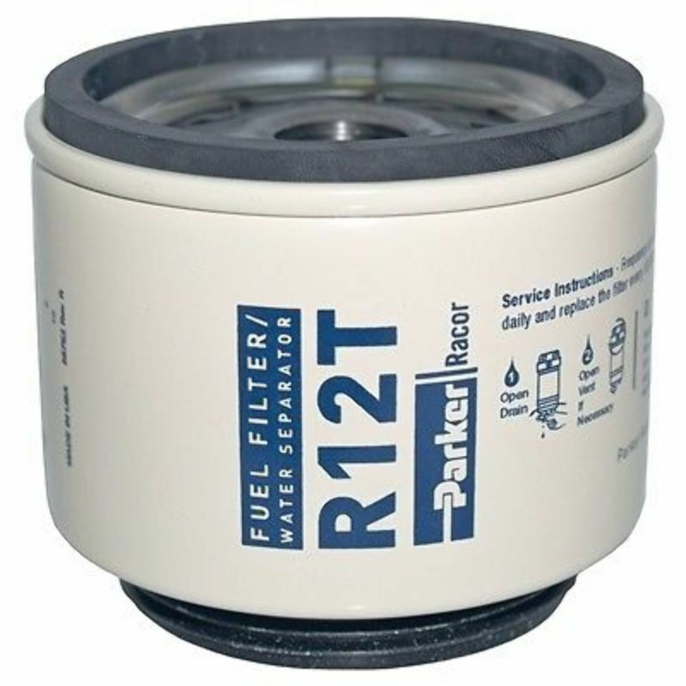 Diesel Fuel Filter//Water Separator-Replacement Filter ONLY R12T Marine MD new