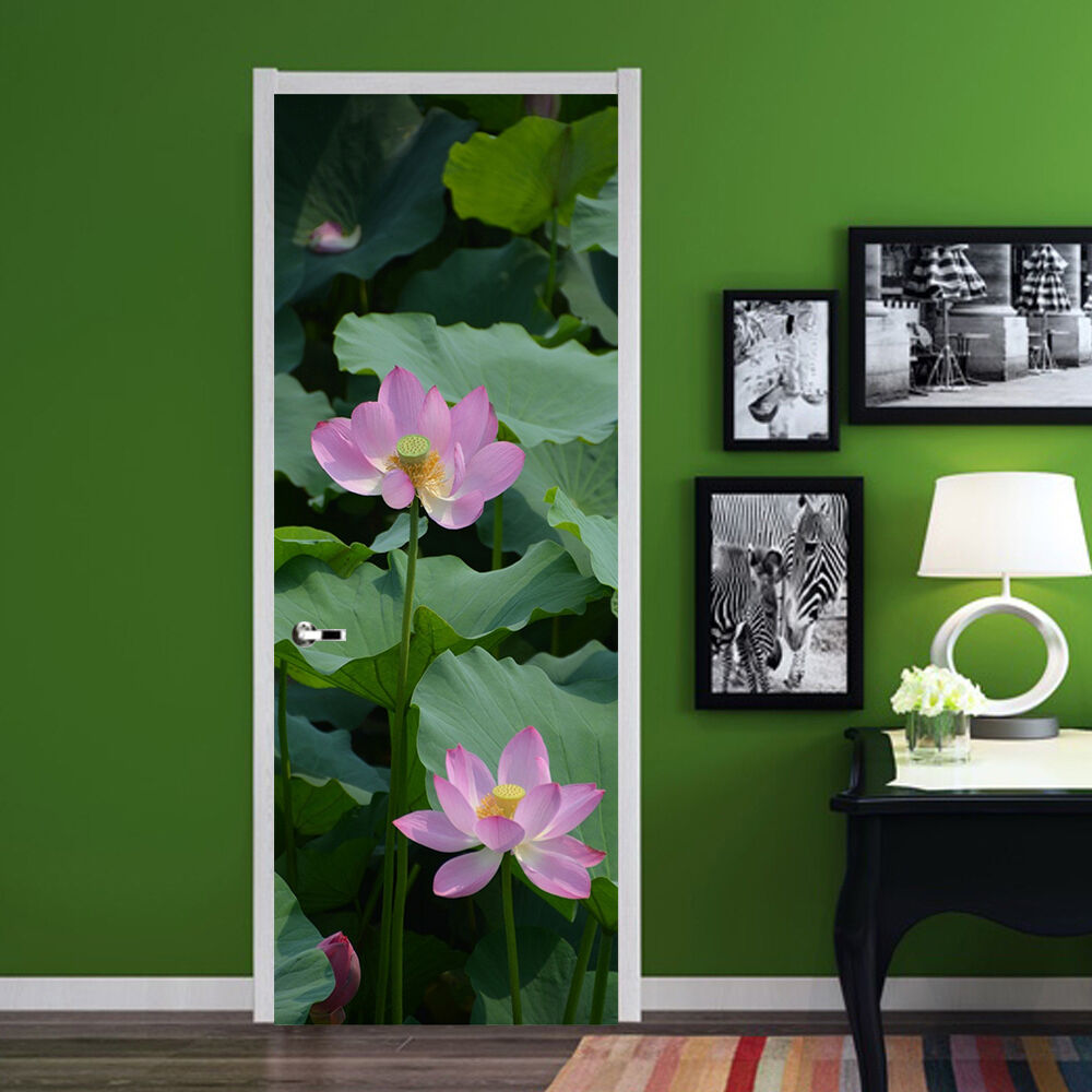 3D Lotusteich Lotusteich Lotusteich 70 Tür Wandmalerei Wandaufkleber Aufkleber AJ WALLPAPER DE Kyra | Elegante und robuste Verpackung  | Hohe Sicherheit  | Geeignet für Farbe  63f8c7