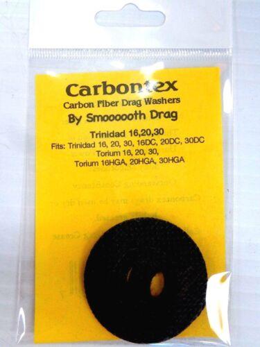 Carbontex Carbon Fiber Drag Washers - SHIMANO TRINIDAD 16, 20, 30 TORIUM 16 - 30