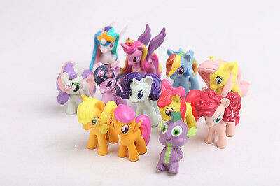 Begeistert Girls My Little Pony Figures Set Of 12 Kids Toy 4-5 Cm Playset