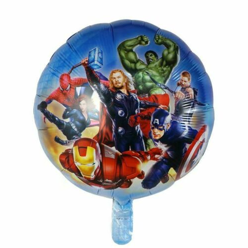 5pcs Superhero Spiderman Avengers Batman America Foil Balloons Birthday Party