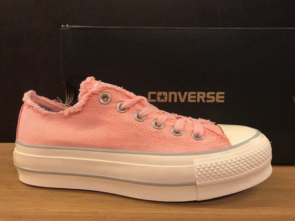 Zapatos promocionales para hombres y mujeres CONVERSE ALL STAR PLATFORM JEANS ROSA n.41 NUOVE 100% ORIGINALI !!!
