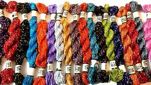 New-Pure-Metallic-Hand-Embroidery-20-x-Thread-Skeins-all-best-Colours-UK-Seller
