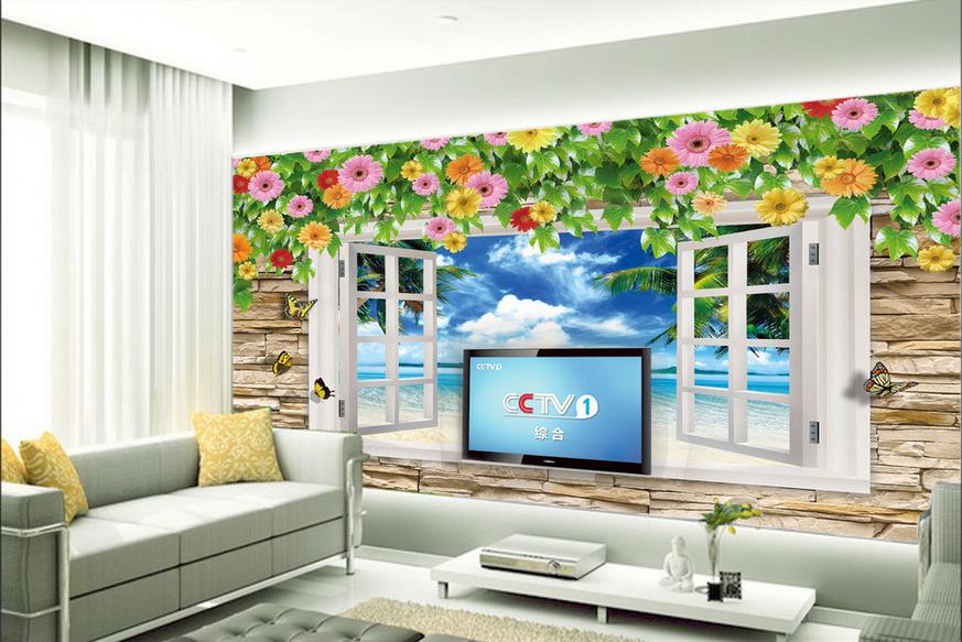 3D Vines View 439 Wallpaper Murals Wall Print Wallpaper Mural AJ WALL UK Lemon