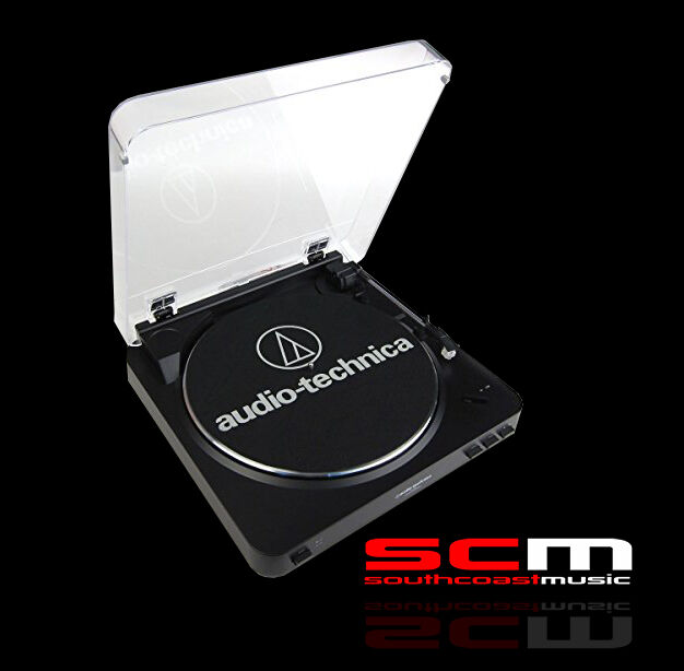 AUDIO-TECHNICA LP60 USB BLACK FULLY AUTOMATIC TURNTABLE P+H INCLUDED!