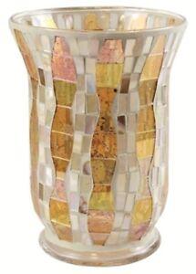 Yankee-Candle-Gold-Wave-Mosaic-Large-Jar-Holder-NEW