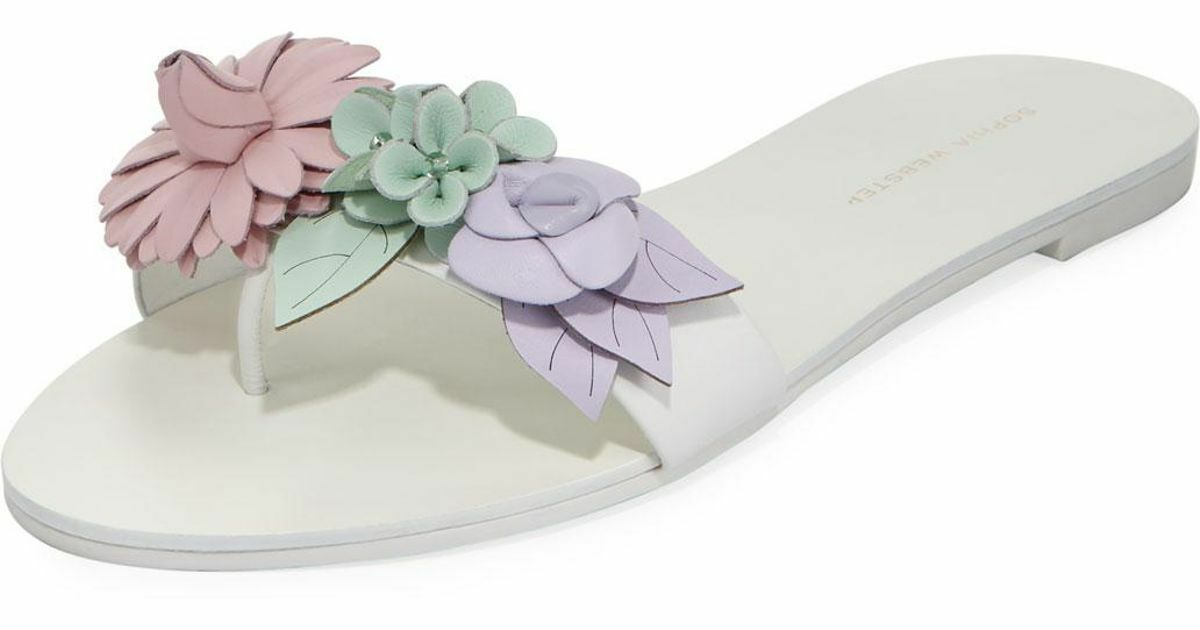 Sophia Webster Lilico Floral Slide Flat Sandals Sandals Sandals 997bdb