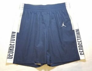 Nike-Jordan-Georgetown-Hoyas-Basketball-Short-Womens-Med-Navy-White