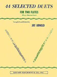 44 Sélectionné Duos Pour Deux Flûtes Livre 1 Facile Intermédiaire Livre Neuf 000510553-afficher Le Titre D'origine