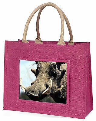 Warzenschwein Afrikanisches Schwein Große Rosa Einkaufstasche