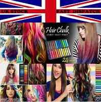 Hair Chalk Temporary Hair Dye Colour Kit Pastels Colours Salon Kit     UK Seller