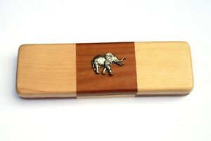 DernièRe Collection De Elephant Chequered Wooden Pen Set Black Ball Point Pens Wildlife Gift 116 Prix ​​ModéRé