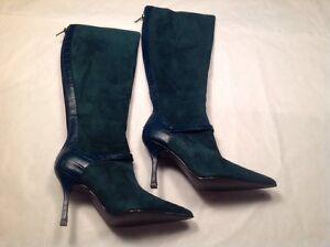 e287eb8eca1 Victoria s Secret Colin Stuart Women s Dark Green High Heel Boots ...