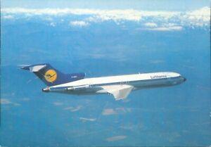 Lufthansa B727 Europa Jet in flight mountains Continental size card