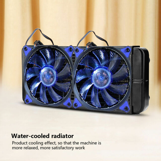 1×240mm G1//4 Aluminum Computer Radiator Water Cooling For CPU LED Heatsink New