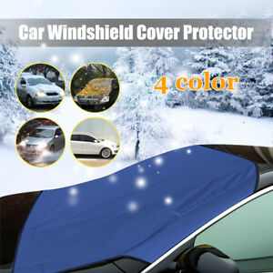 Details about Blue Car Auto Magnet Windshield Cover Sun Snow Ice Wind Frost  Freeze Protect !