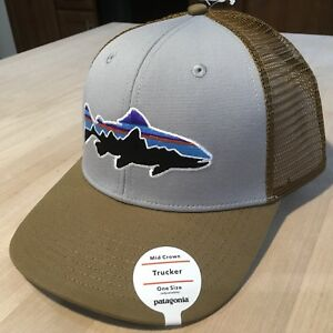 a7bfa3443f930 Image is loading Patagonia-Fitz-Roy-Trout-Trucker-Hat-NWT-Drifter-
