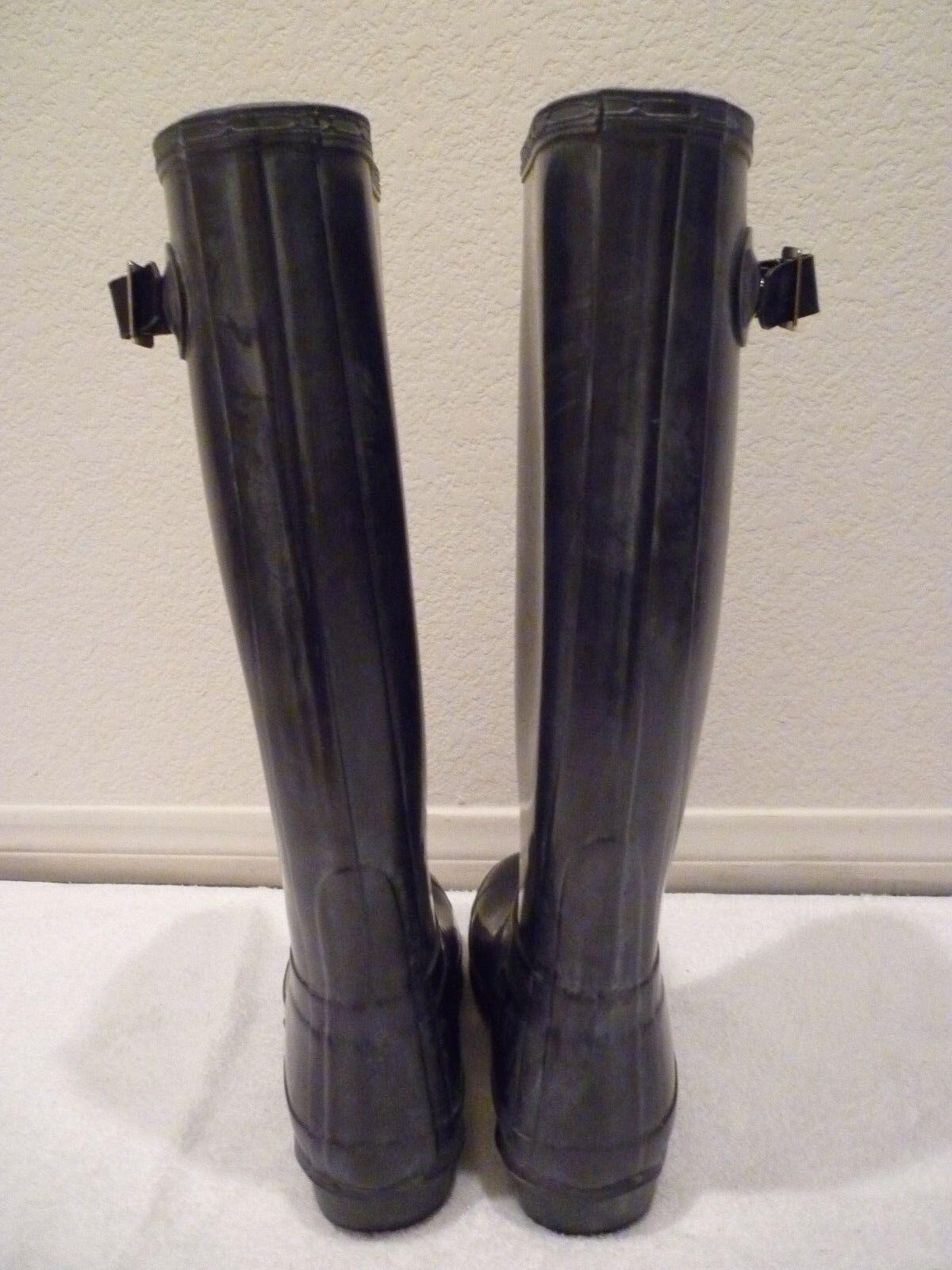 HUNTER HUNTER HUNTER RAIN Stiefel Wellies Original Gloss-Blau lila  SZ 4M 5F 8be743