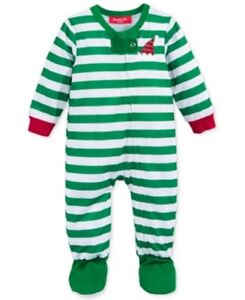 ef64ac33a6d0 Family Pajamas Unisex Baby Boys  or Girls  Elf Striped Footed PJ s ...