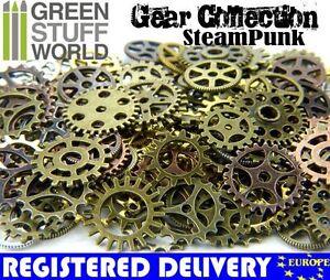 Steampunk-Set-85gr-Cyberpunk-Jewellery-Cogs-and-Gears-Medium-Size-craft
