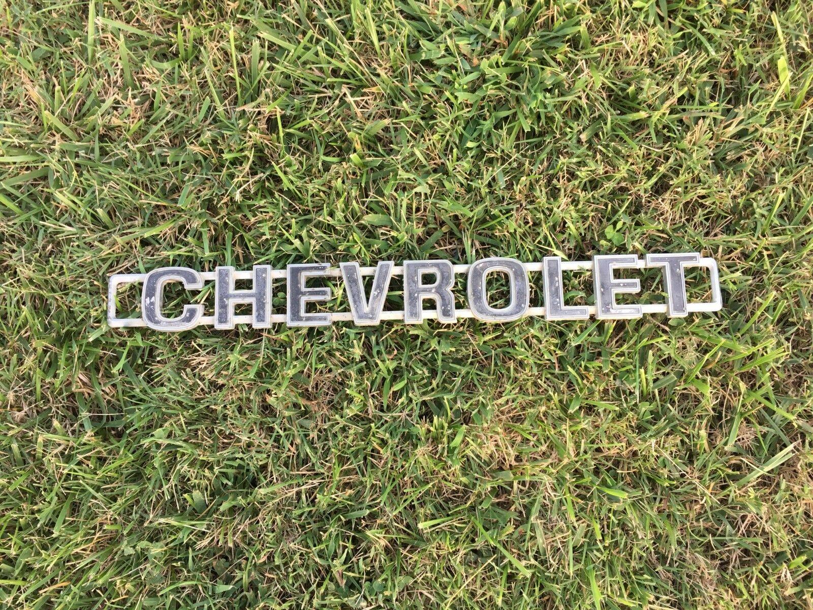 1973 C 1980 original logo metal name marke gm chevrolet.