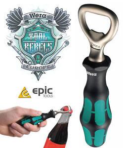 WERA-Kratform-Screwdriver-Classic-Style-Drink-Beer-Bottle-Opener-Handle-030005