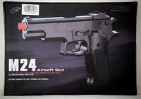 "New 8.5"" Spring Black Airsoft Pistol Hand Gun 270fps w/ 20 6mm BB Air Soft M24"