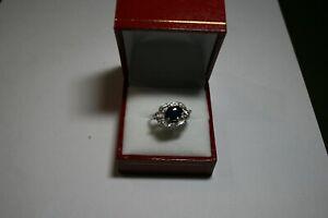 magnifique-bague-ancienne-diamants-saphir-platine-fait-main-annee-30