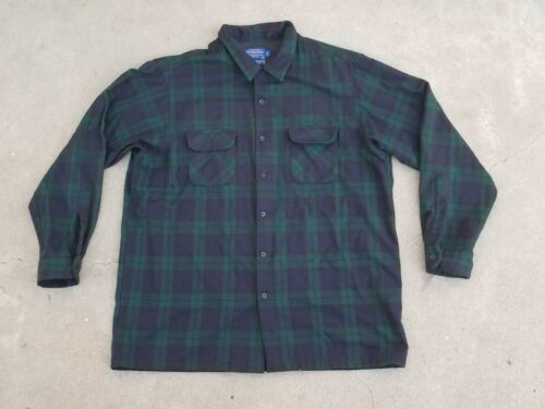 Pendleton Board Shirt Jac Plaid Wool Long Sleeve B