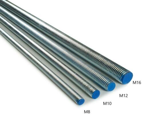 verzinkt Gewindebolzen M10 M10 Gewindestange 1 m DIN 975 976  5.8 galv
