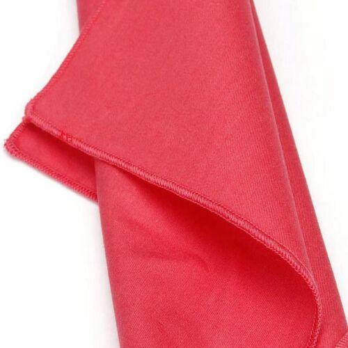 Vintage Men/'s Solid Plain Cotton Handkerchief Wedding Banquet Pocket Square 25CM