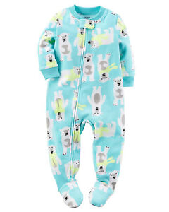 00d94a7a2 NWT ☀FOOTED FLEECE☀ CARTER S Boys BEARS Pajamas 4T