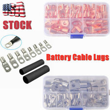 Tin Plated Bare Copper Battery Cable Ends Lugs Ring Terminals Connectors Kits