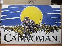 Vintage 1991 Original Movie Dc Comics Poster Cat Woman 12266