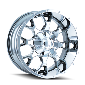 Mayhem-Warrior-8015-Chrome-20x9-0mm-5x150-5x139-7-Dodge-Ram-1500-Toyota-Tundra