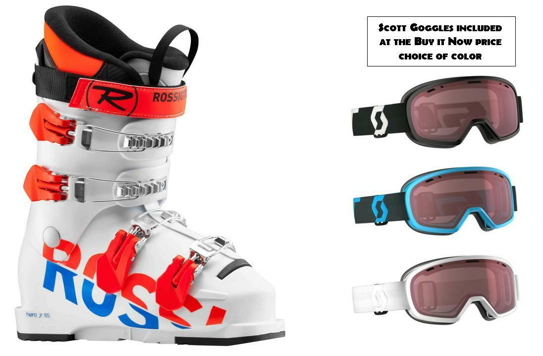 New Rossignol Hero 65 25.5 (GOGGLES incl at Buy it Now) youth/junior ski Stiefel