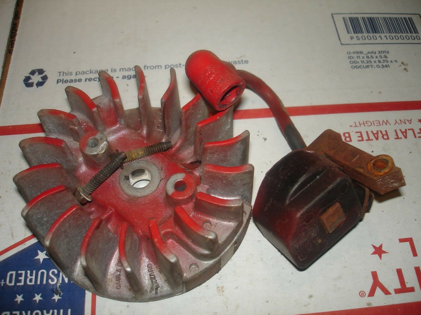 Eskimo Model 8902 coil and flywheel    ice auger part