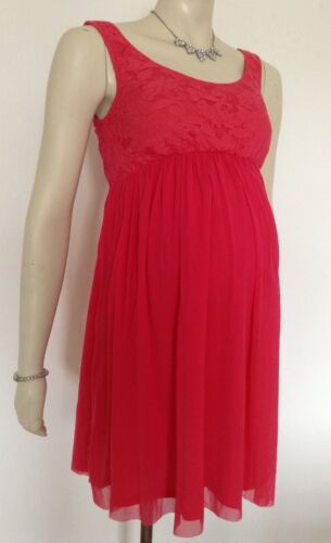 Rock-A-Bye Rosie Maternity NEW Coral Summer Maternity Dress Size 10,12,14,16,18