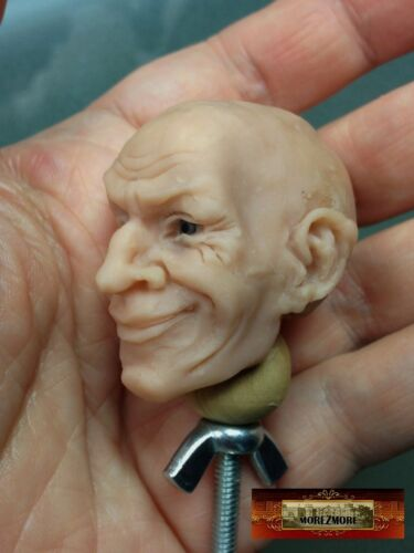 M00590x3 MOREZMORE 3 Mini Clay Doll Head Stand Scupt Paint Wig Small 1:6