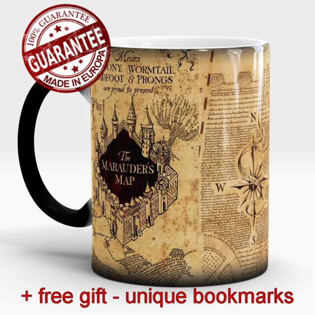 b4717b2d270 Harry Potter Magic mug Marauders map Hogwarts Color Changing Cup free Gift